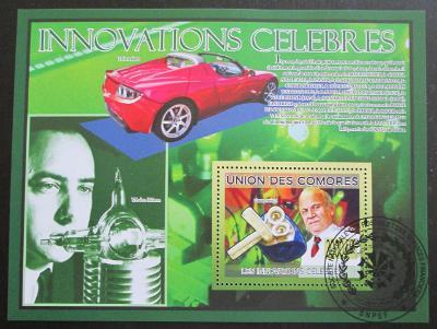 Komory 2009 Slavné vynálezy Mi# Bl 502 15€ 0516