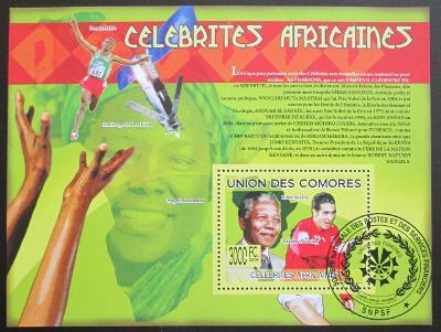 Komory 2009 Slavní Afričani Mi# Bl 504 15€ 0517