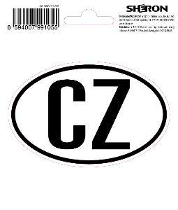 Samolepka CZ - ovál 11 x 7cm