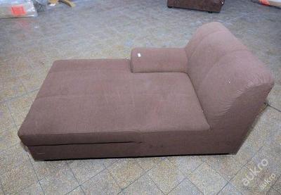 Sofa nerozkládací, mikroplyš 150 cm (2225)