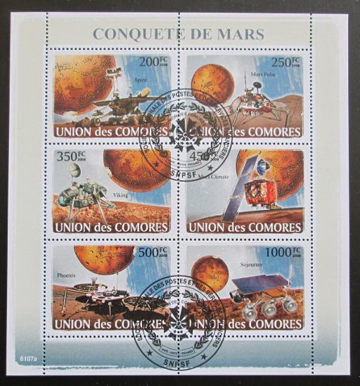 Komory 2008 Průzkum Marsu Mi# 1946-51 13€ SLEVA - Filatelie