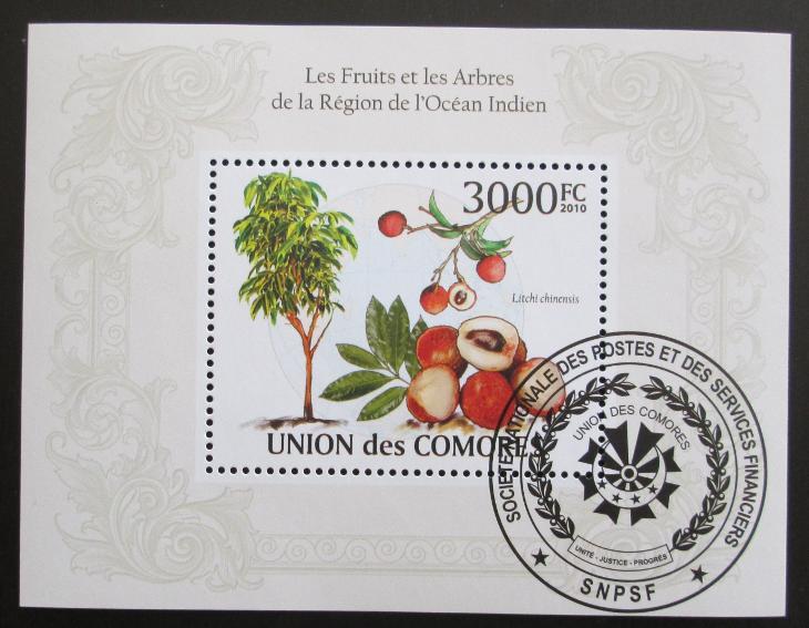 Komory 2009 Ovoce Mi# Bl 568 15€ SLEVA - Filatelie