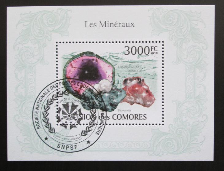 Komory 2009 Minerály Mi# Bl 562 15€ 1303 - Filatelie