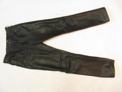 Dámské kožené kalhoty v.30- obvod pasu:74cm (567