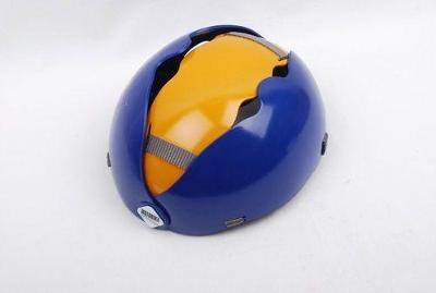 Skládací cyklistická helma, modrožlutá, S