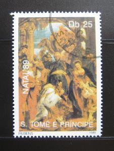 Svatý Tomáš 1989 Umění, Rubens Mi# 1154 3.20€ 0231