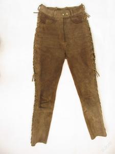 Kožené šněrovací kalhoty GERICKE vel.36 -pas:72c