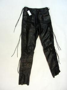 Kožené kalhoty N. L. C. vel. 28 - pas: 68 cm