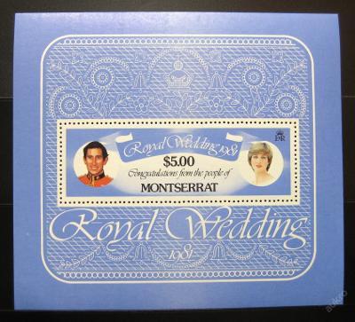 Montserrat 1981 Královská svatba Mi# Block 24 0854