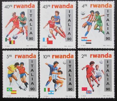 Rwanda 1990 MS ve fotbale Mi# 1433-38 Kat 35€