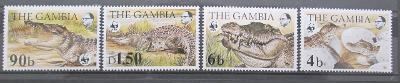 Gambie 1984 Krokodýly 011 Mi# 517-20 Kat 65€ WWF