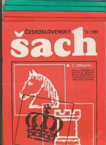 casopis Cesko slovensky sach 1981-82 sachy Karpov sachysta 10 kusu