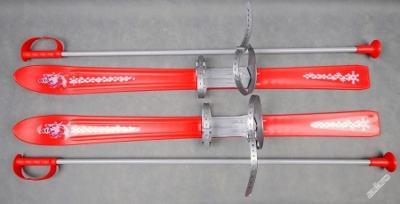 Dětské lyže 90 cm + hůlky.