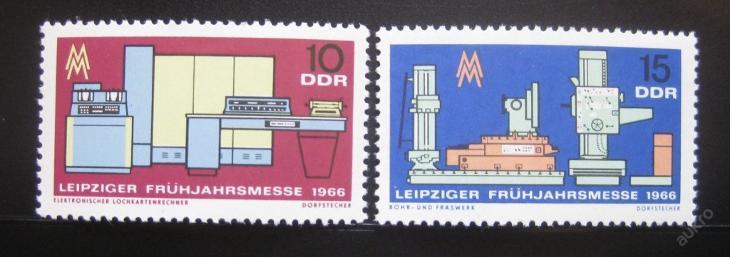 DDR 1966 Lipský veletrh Mi# 1159-60 0010 - Filatelie