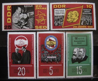 DDR 1966 Socialistická strana SED Mi# 1173-77 0010