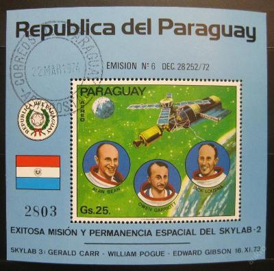 Paraguay 1973 Výzkum vesmíru SC# 1527 $8.50 0359