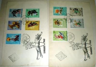 2x příležitost obálky známky CIRKUS MAGYAR POSTA