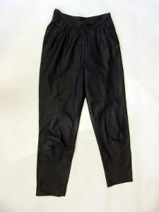 Kožené dámské kalhoty vel. 42 - pas: 76 cm