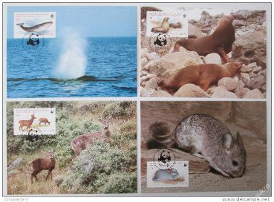 Chile 1985 Zvířata 020 Mi# 1066-69 Pohlednice WWF