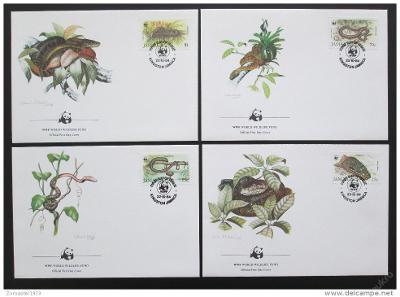Jamajka 1984 Hadi 019 Mi# 591-94 FDC 70€ + WWF
