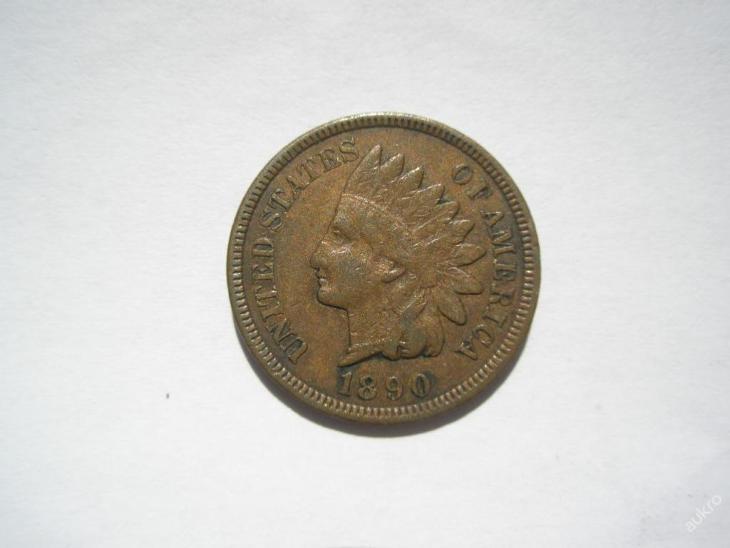USA 1 Cent 1890 - Numismatika