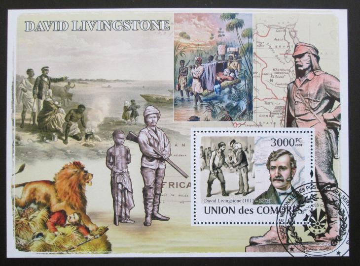 Komory 2009 David Livingstone Mi# Bl 461 15€ SLEVA - Filatelie