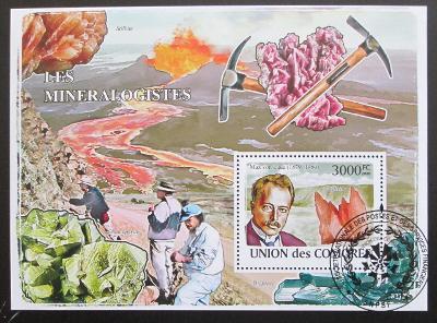 Komory 2009 Mineralogové Mi# Bl 463 Kat 15€ 1484
