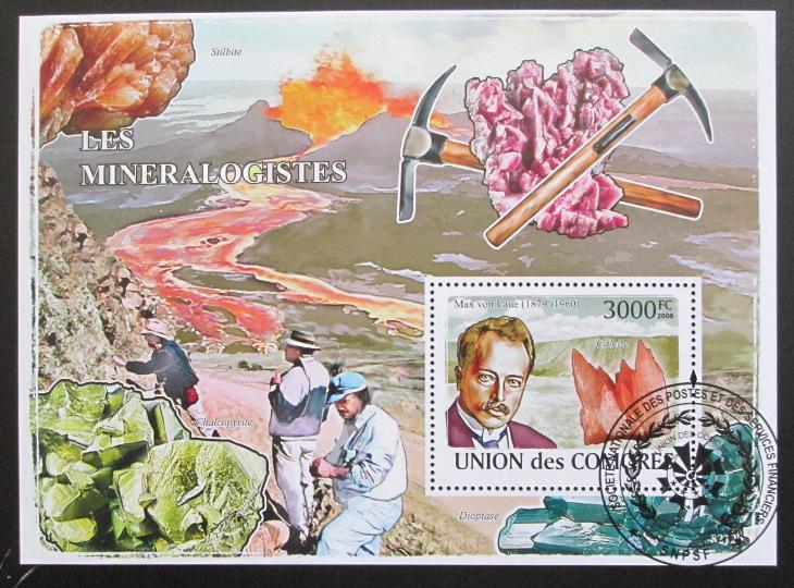 Komory 2009 Mineralogové Mi# Bl 463 Kat 15€ SLEVA 0933 - Filatelie