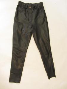 Dámské kožené kalhoty vel. 38 - obvod pasu: 66 c