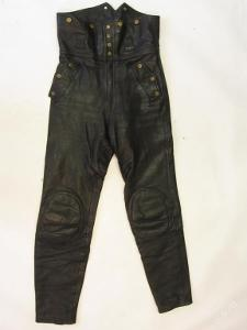 Kožené kalhoty  vel. 48- obvod pasu: 72 cm Výztu