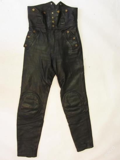 Kožené kalhoty  vel. 48- obvod pasu: 72 cm Výztu - Náhradní díly a příslušenství pro motocykly