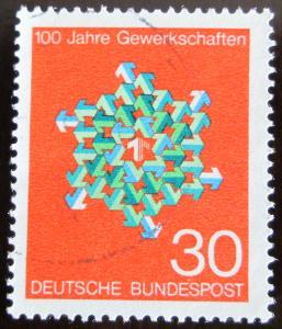 Německo 1968 Odborová organizace Mi# 570 0336