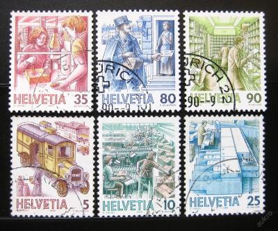 Švýcarsko 1986 Pošta fluor. Mi# 1321-26 10€ 0877