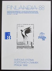 Finsko 1988 Výstavy poštovních známek Viněta 0372