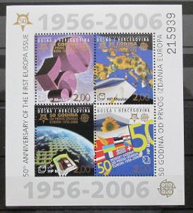 Bosna 2006 Výročí Evropa CEPT Mi# Block 7 20€ 0432