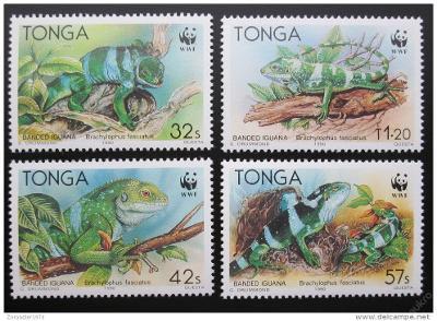 Tonga 1990 Leguán 102 Mi# 1140-43 Kat 16€ WWF