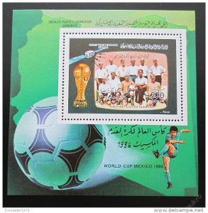 Libye 1986 MS ve fotbale Mi# Block 107