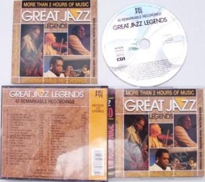2CD GREAT JAZZ LEGENDS 40 HITS ELLINGTON ARMSTRONG