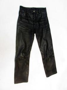 Kožené broušené kalhoty vel. 27 - obvod pasu: 70