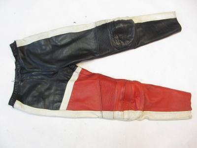 Kožené kalhoty vel. 42  -obvod pasu:78cm - výztu