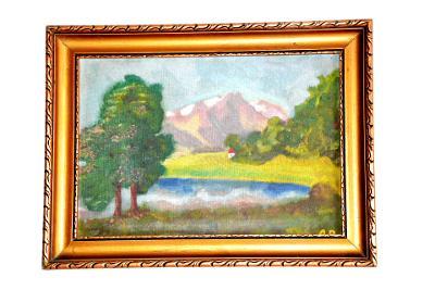 obraz, obrázek, olej, krajinka