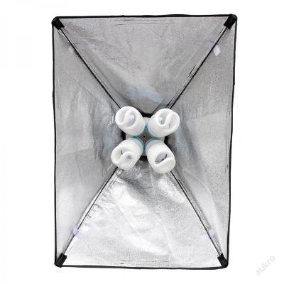 Foto lampa pro 4 žárovky se softboxem 50 x 70 cm