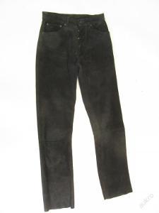 Broušené kožené kalhoty vel.? - obvod pasu: 72 c
