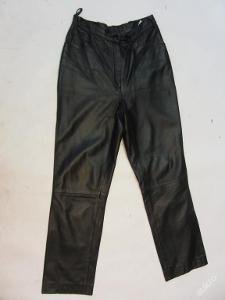 Kožené dámské kalhoty  v. 36 - obvod pasu:68cm
