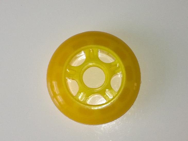 INLINE KOLEČKA MODA - žluté 76 mm / 82A - Skateboard, in-line, koloběžky