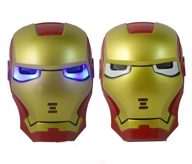 SVÍTÍCÍ MASKA IRON MAN - SUPER CENA!!! - Převleky, kostýmy, masky