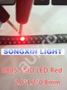 10 ks SMD LED 5730 červená