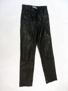 Kožené kalhoty - obvod pasu: 70 cm (8862)