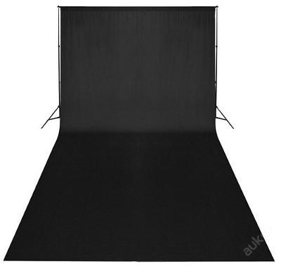 Profesionální fotografické černé pozadí 6 x 3 m