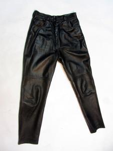 Kožené kalhoty vel. 46 - obvod pasu: 72 cm